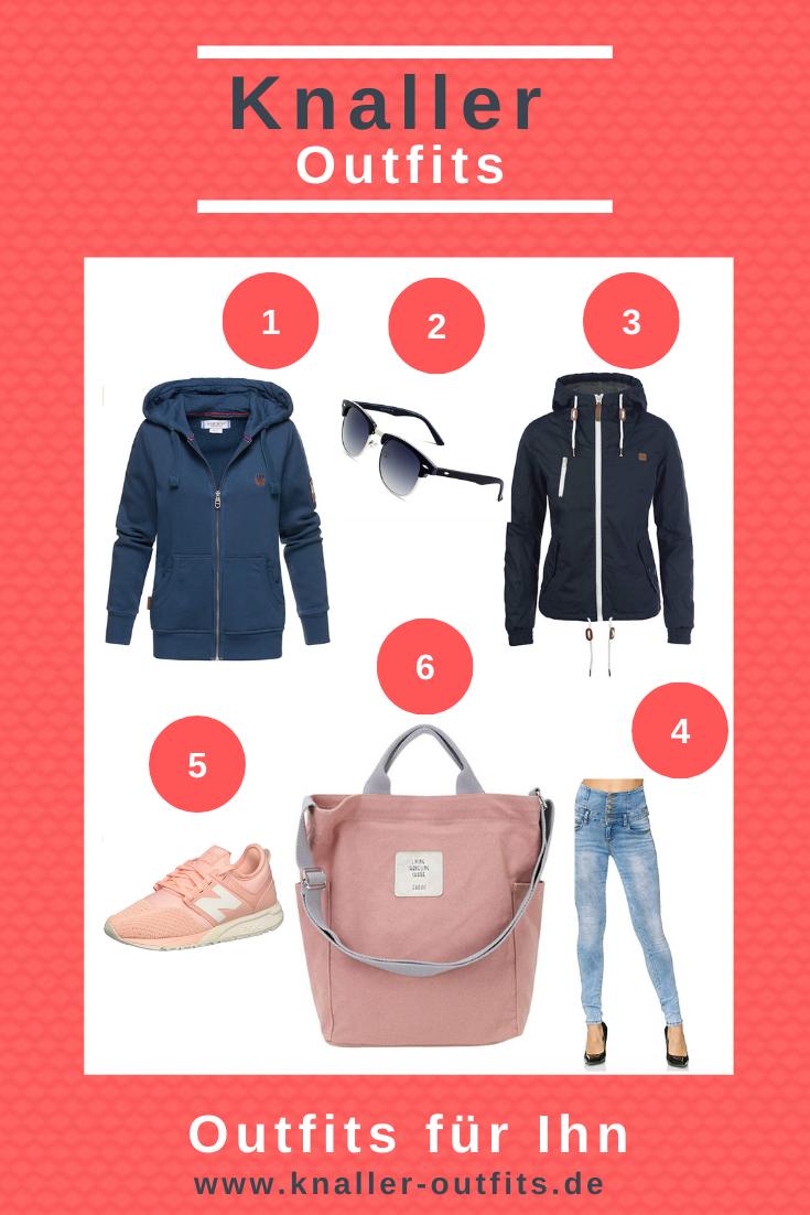 Outfit für Sie – Farbton pink-blau