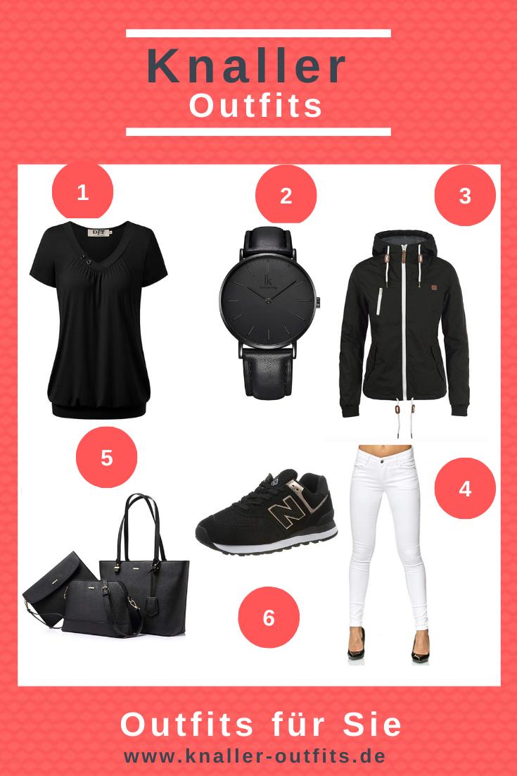 Schwarzes Damen Outfit für jeden Anlass