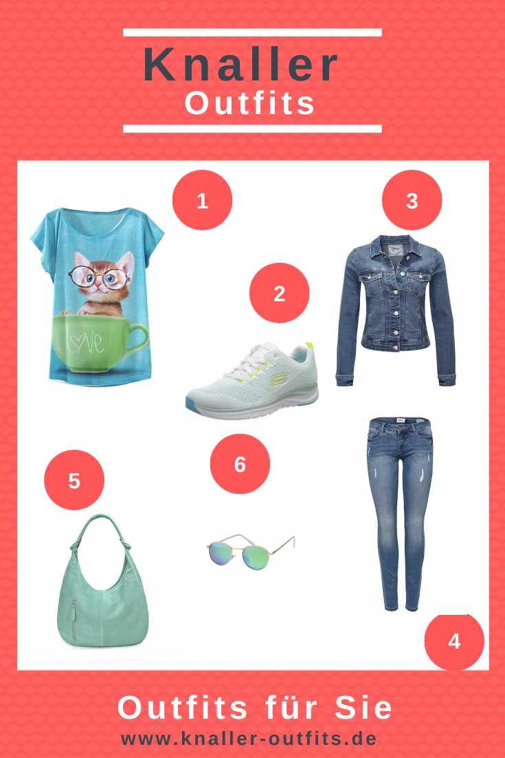 Lässige Jeans farbenes Outfit für Sie